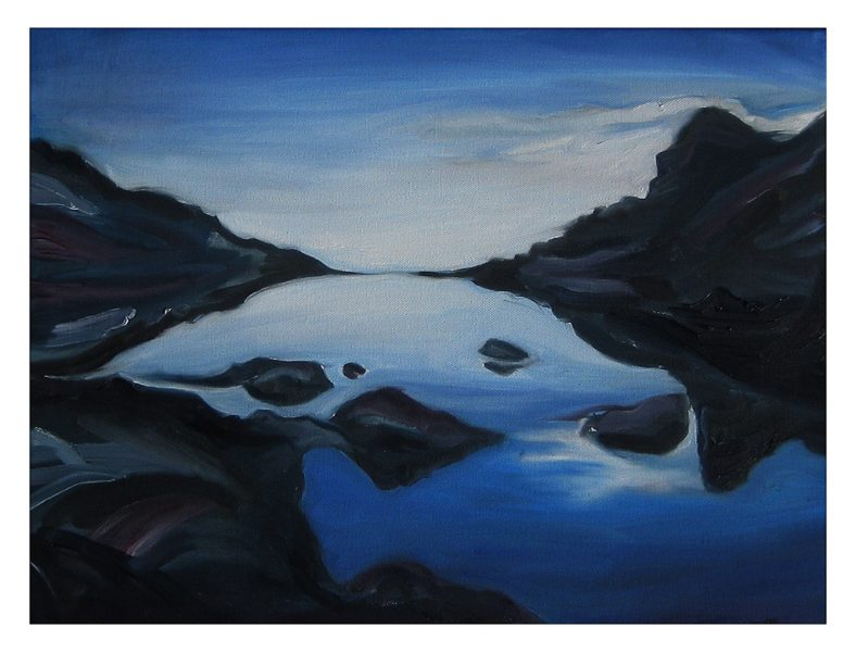 "Above and Below Doran Beach - 20 x 16"", Oil on Canvas, 2014"
