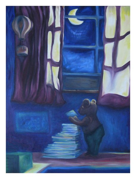 """Bearly Enough Light - 18 x 24"""", Oil on Canvas, 2013"""