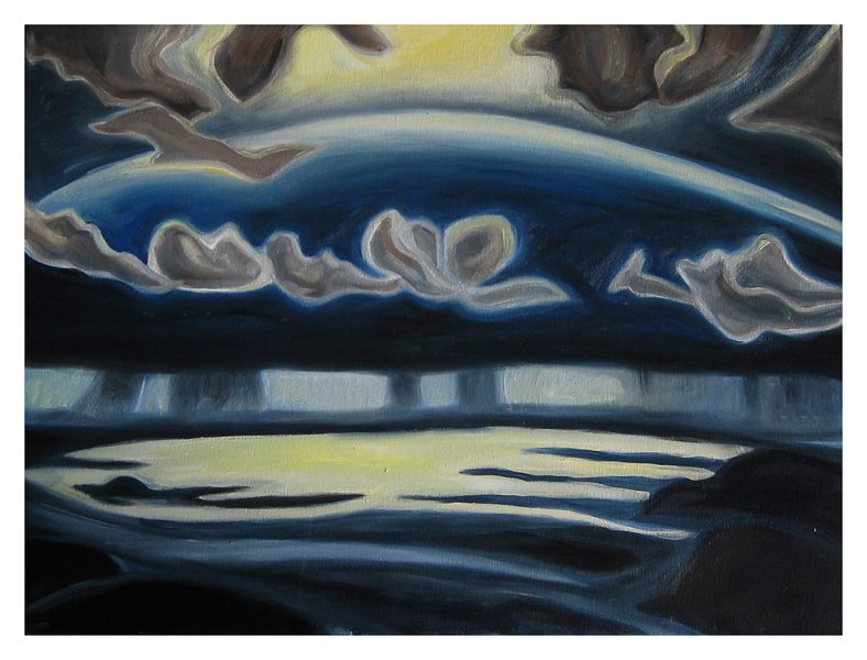 """Lawrence's Above Below Dream - 20 x 18"""", Oil on Canvas, 2013"""
