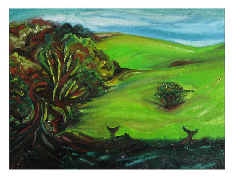 """Oh Deer - 20 x 18"""", Oil on Canvas Board, 2012"""