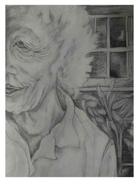"""Peggy at 85 - 10 x 9"""", Pencil on 50# Sketch Paper"""