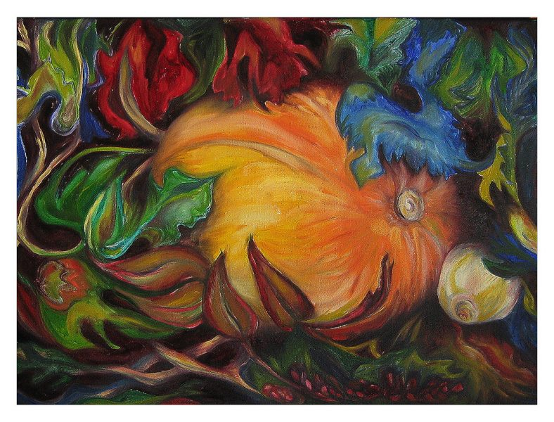 "Pumpkin - 24 x 18"", Oil on Canvas, 2012"