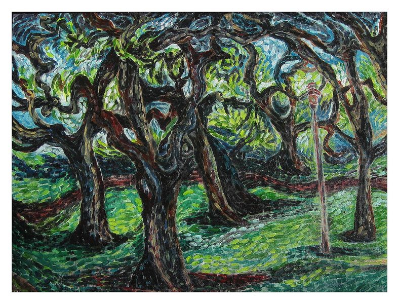 "Valley Oaks - 24 x 18"", Oil on Canvas Board, 2011"